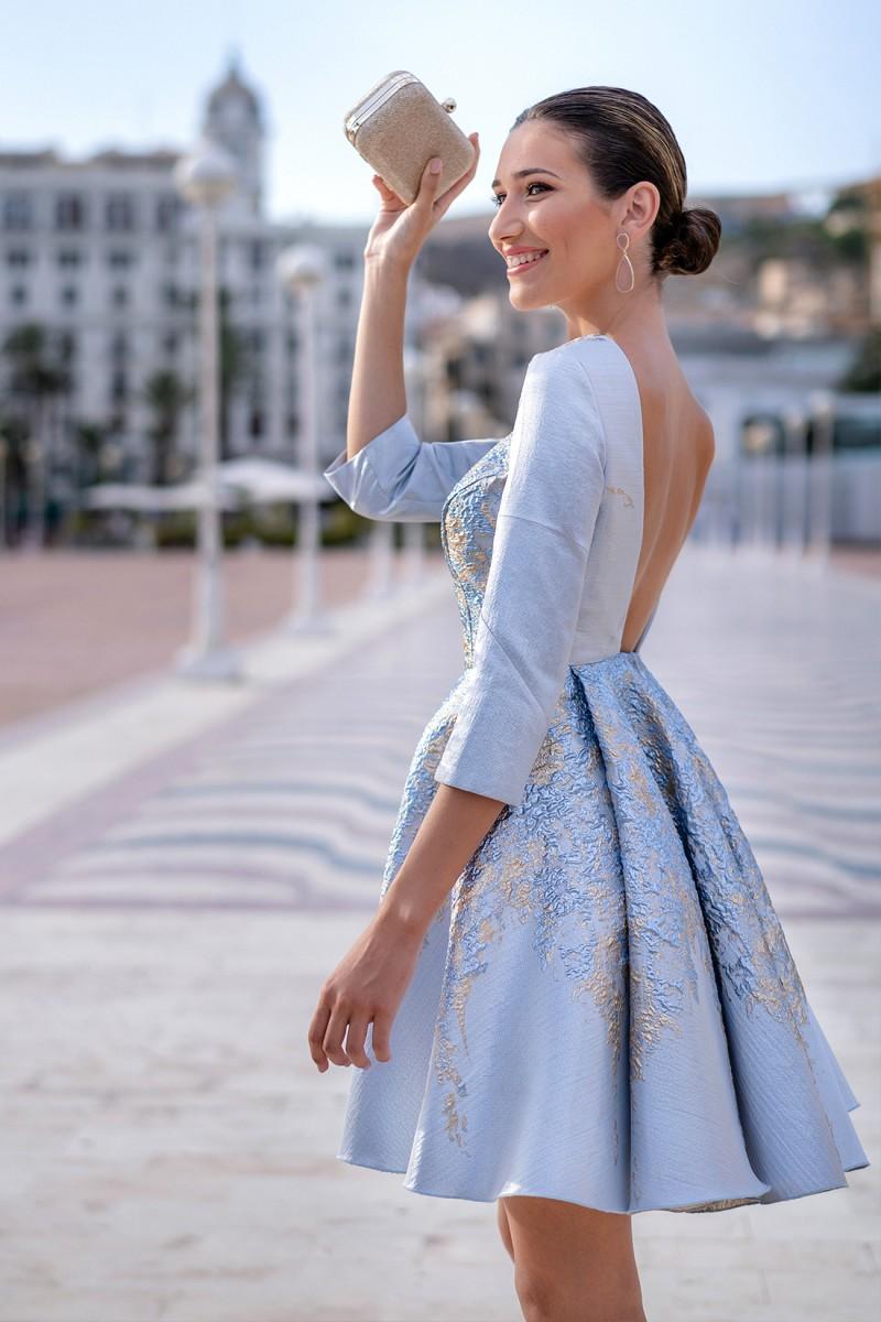 vestido de fiesta corto florida