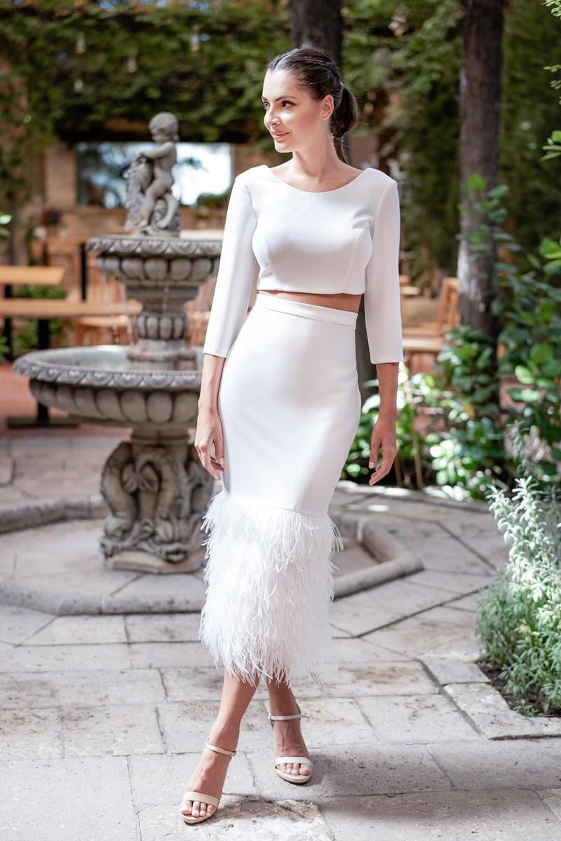 vestido de fiesta con espalda descubierta blanco beckie