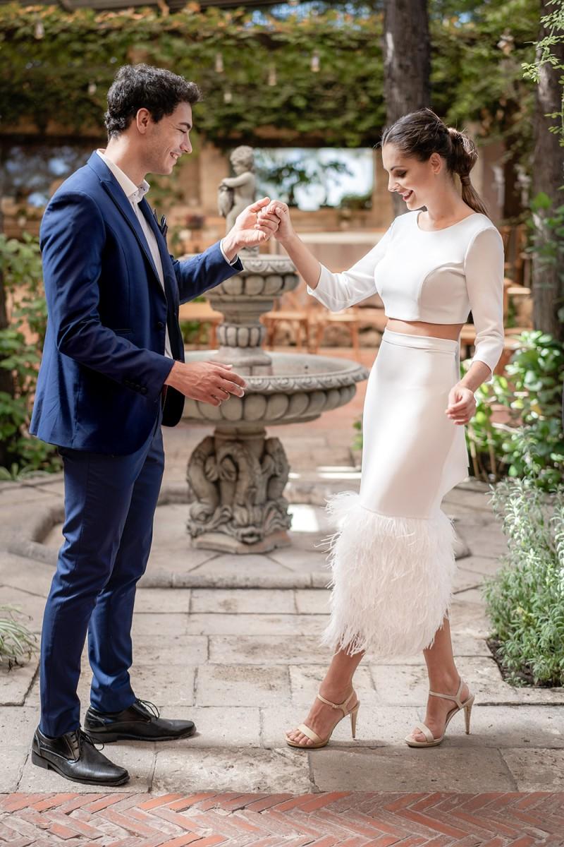 vestido de novia civil beckie