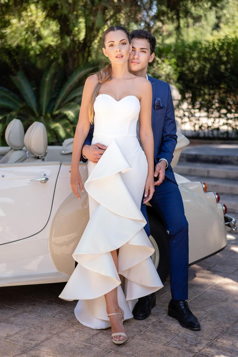 vestido de fiesta blanco sharon