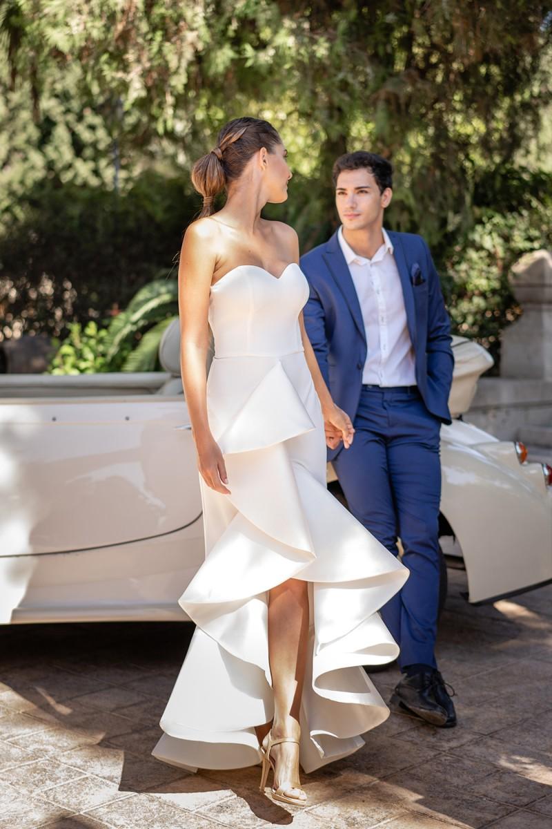 vestido de novia de juzgado sharon