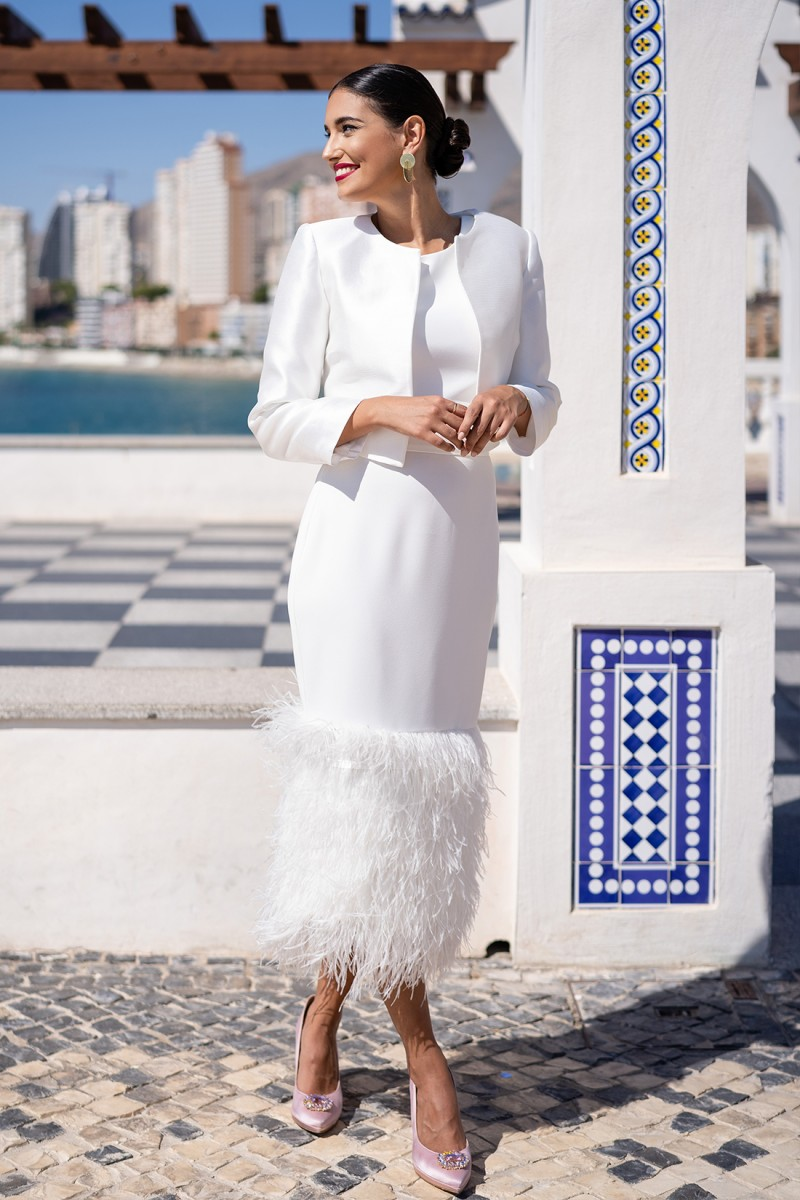 chaqueta blanca helena