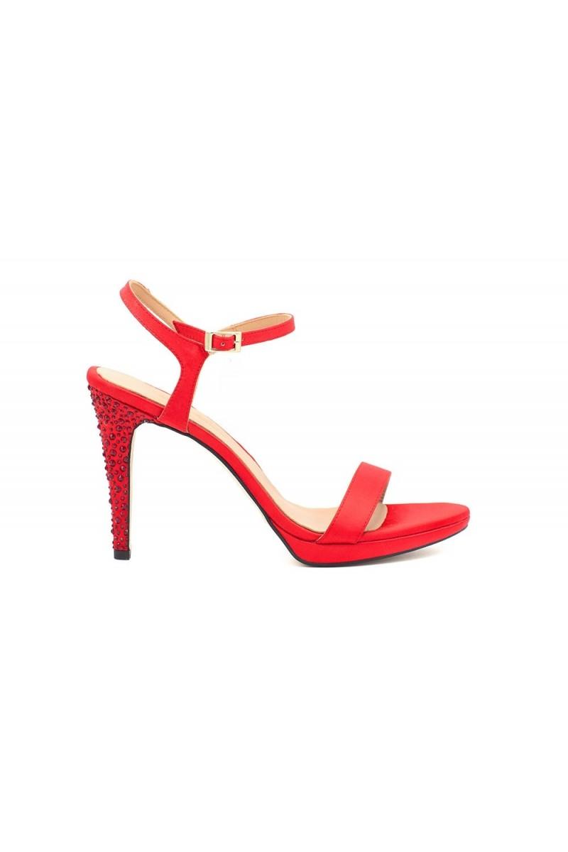 Sandalia Strass Rojo vista lateral