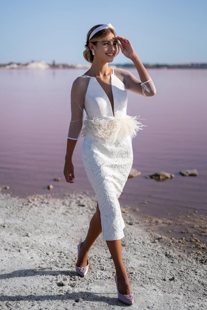 vestido de fiesta blanco amazonia