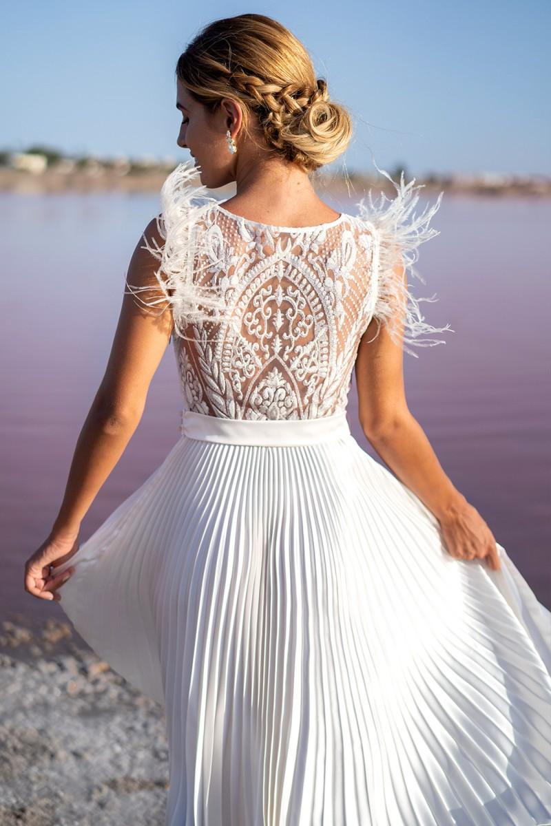 vestido de novia civil amatista