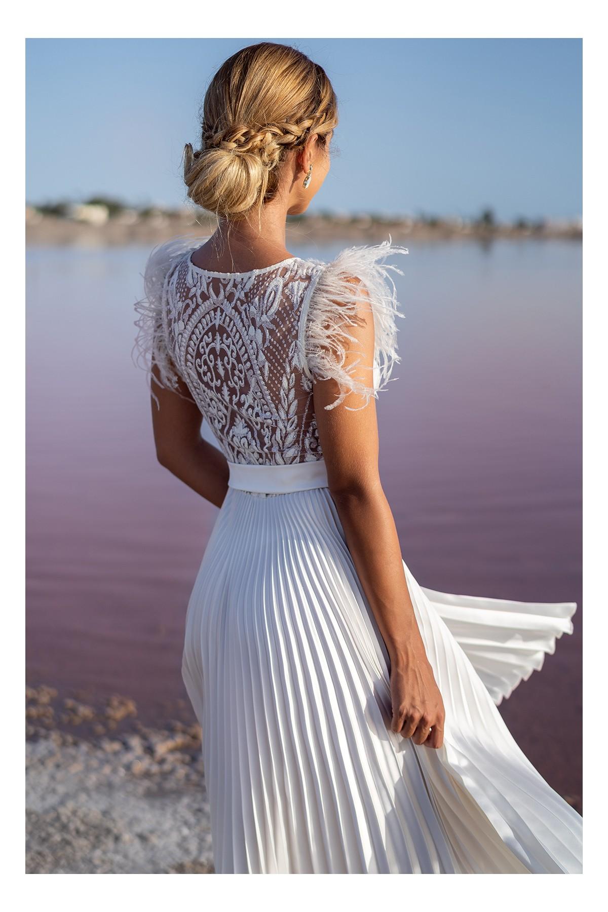 vestido de fiesta blanco amatista