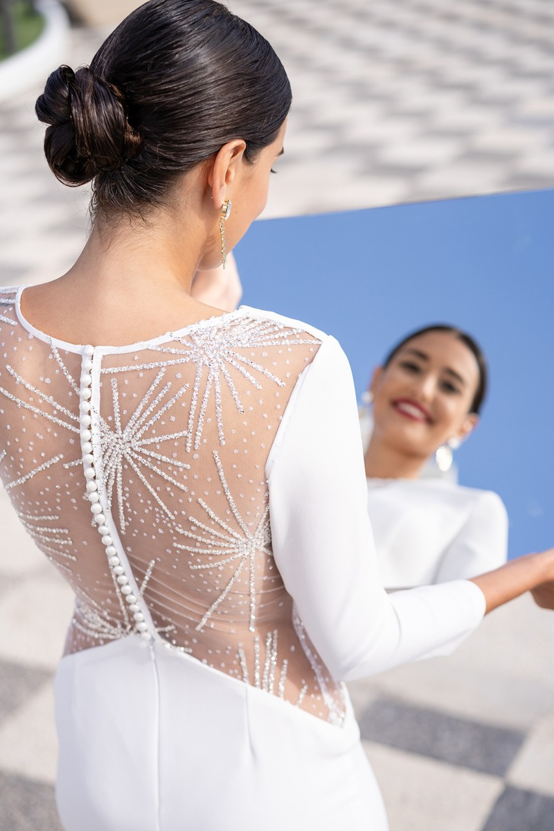 vestido de fiesta blanco verona