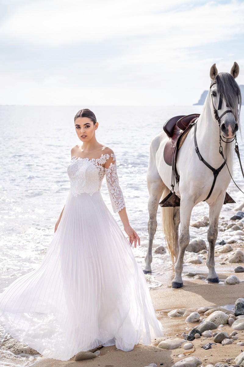 vestido de fiesta en blanco laila
