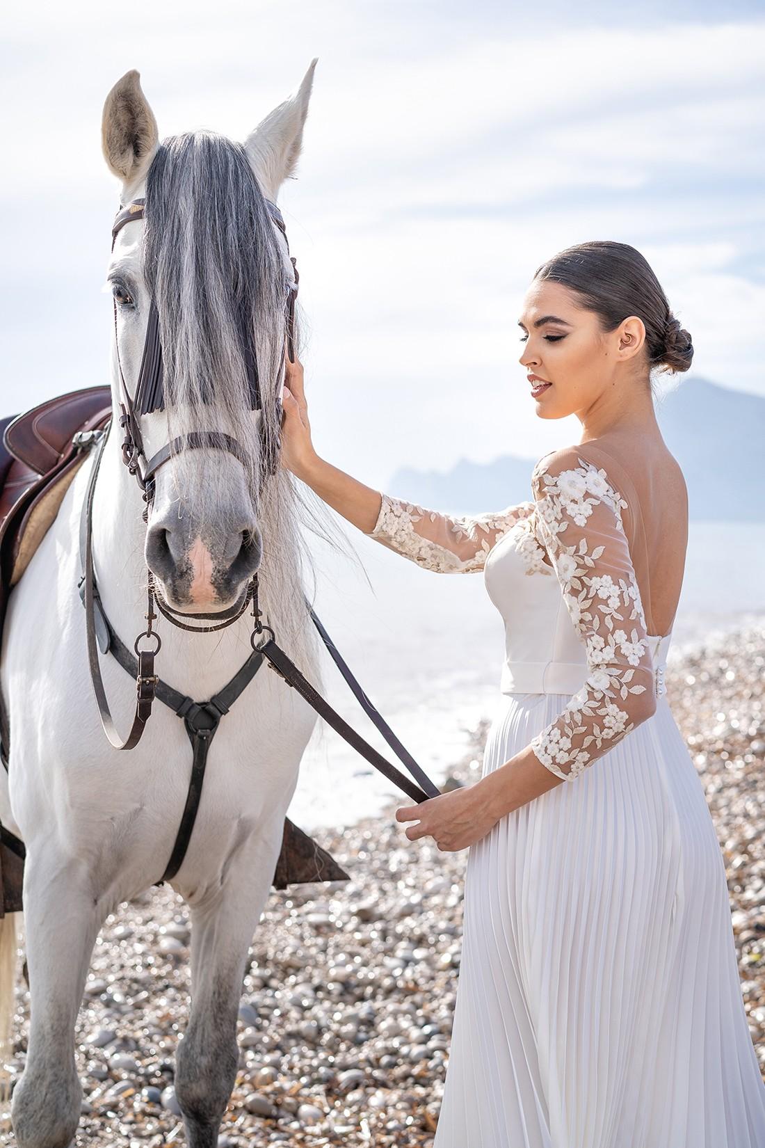 vestido de fiesta de noche blanco dina