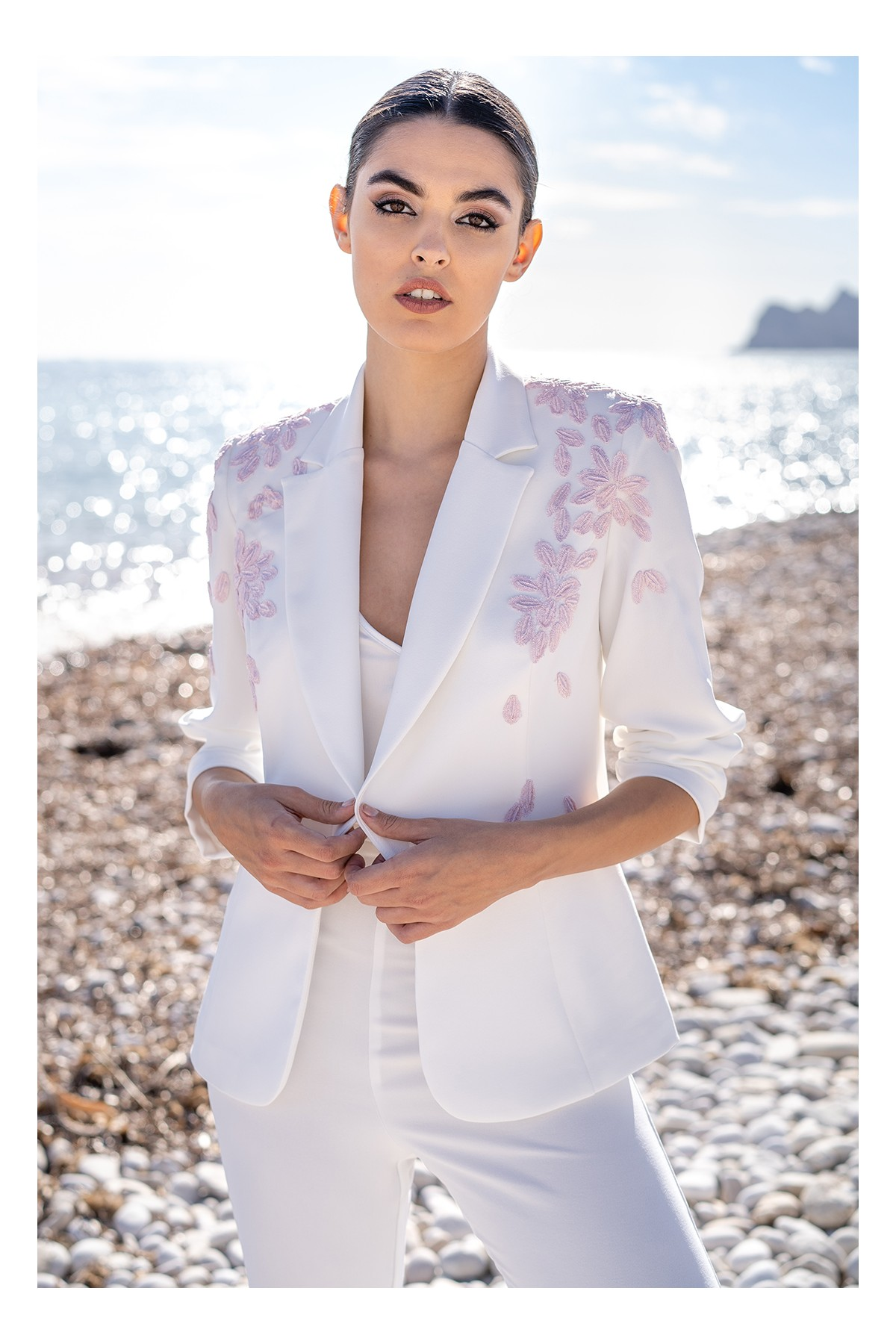 chaqueta blanca thelma