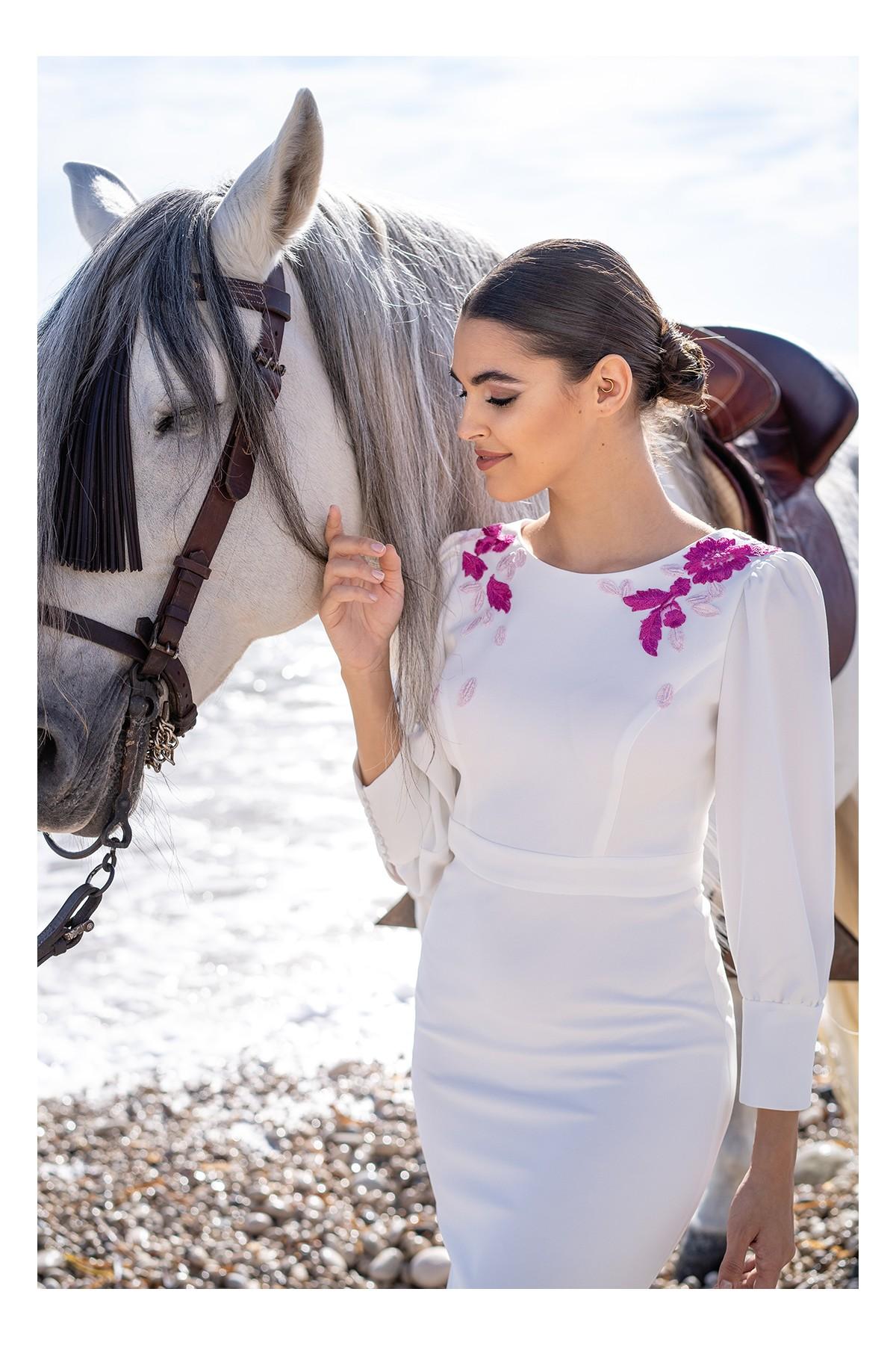 vestido de novia civil blanco lisseth