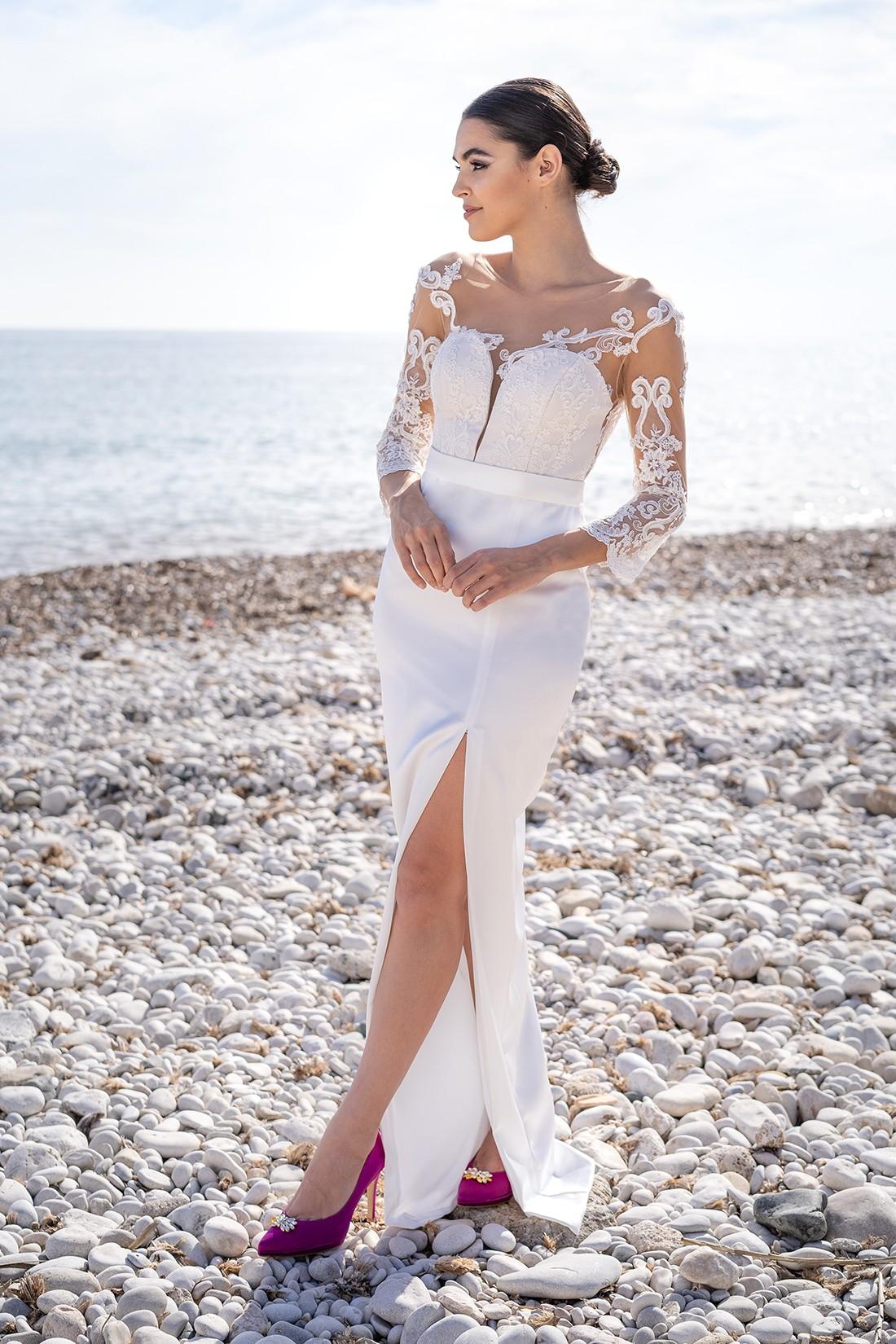 vestido de novia de coctel samantha