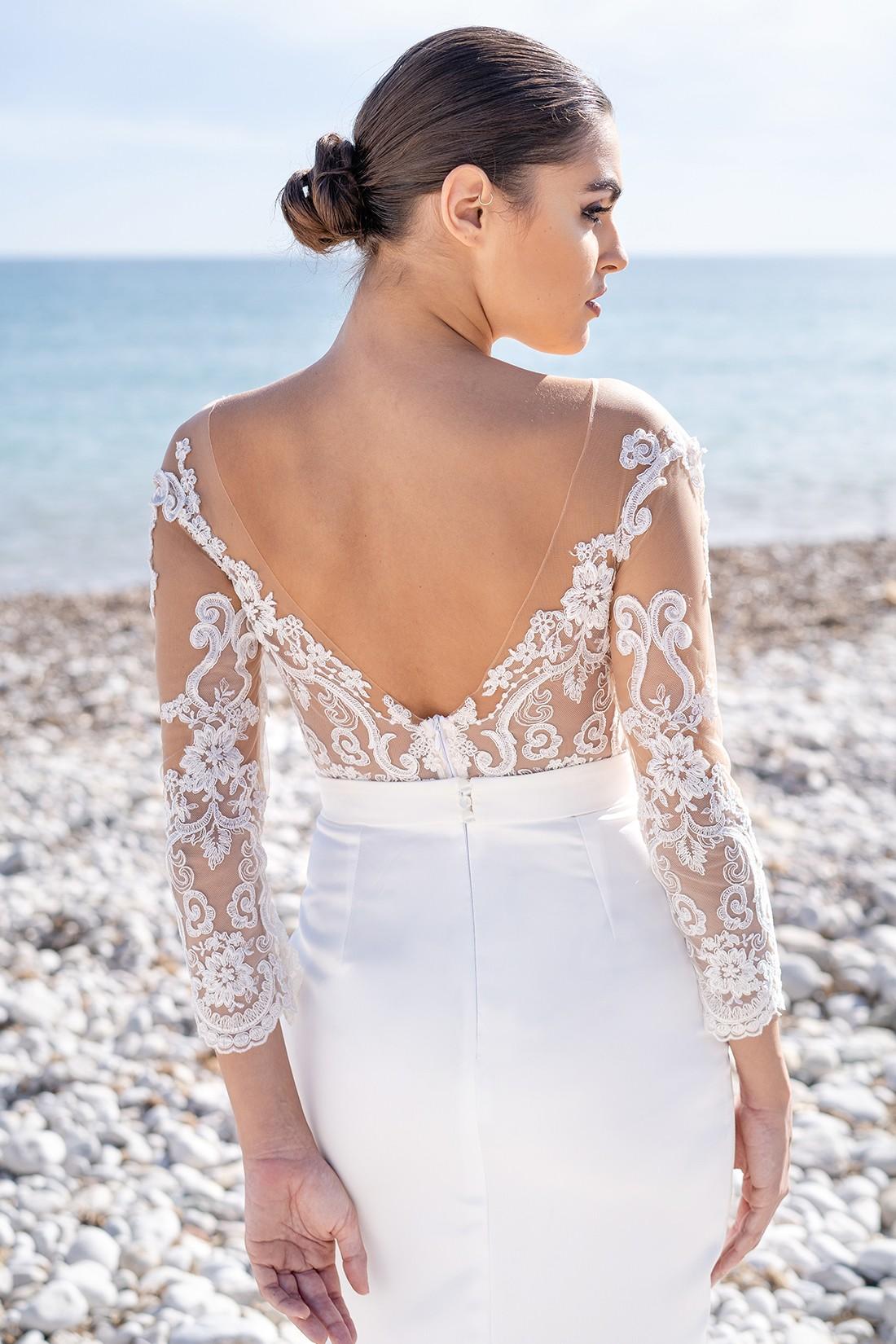 vestido de novia civil con espalda descubierta samantha