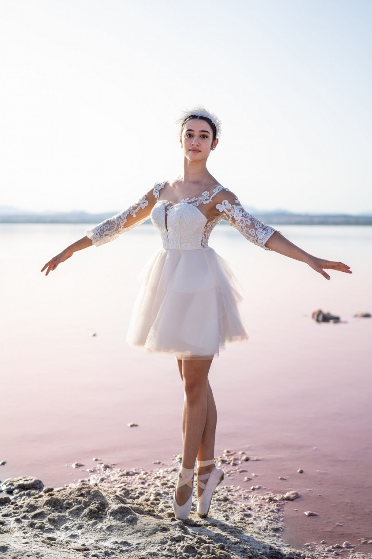 vestido de fiesta blanco corto serena