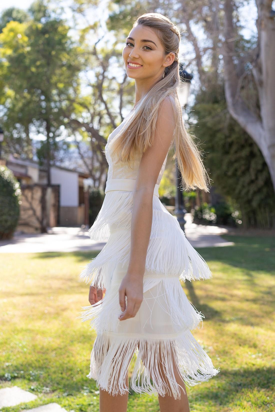 vestido de fiesta blanco sandie