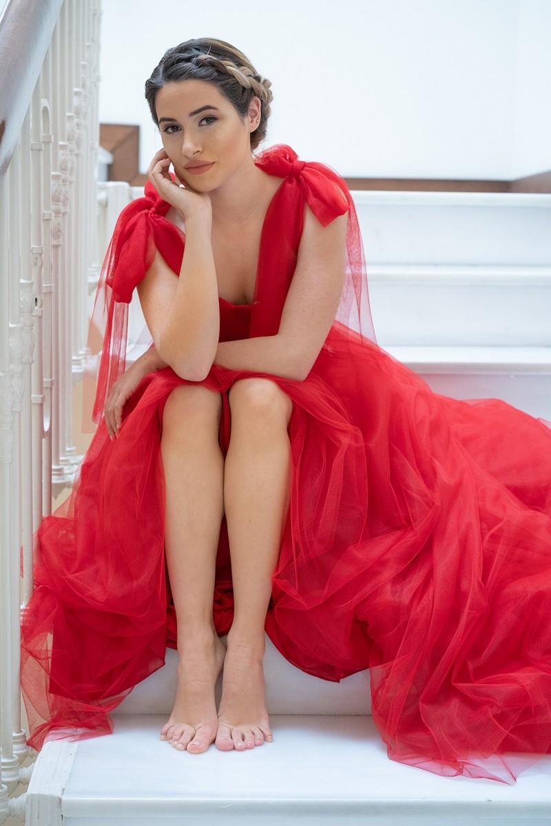 vestido de fiesta rojo giulia