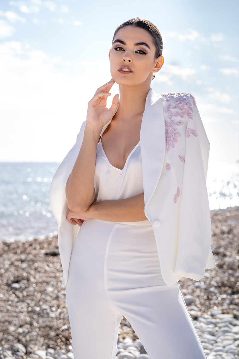 vestido de fiesta blanco thelma